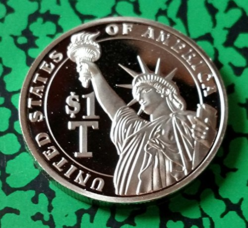 USA $1 Trillion Damn Dollars Silver Plated Challenge Art (Usa Dollar Coins)