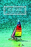 Red Yellow Blue Sailboat Dated Calendar Planner  2 years To-Do Lists,Tasks, Notes  Appointments: Small Cute Pocket/Purse Size  at-A-Glance  Schedule ... - Dec 2021, 25 months Weekly Planner Book)