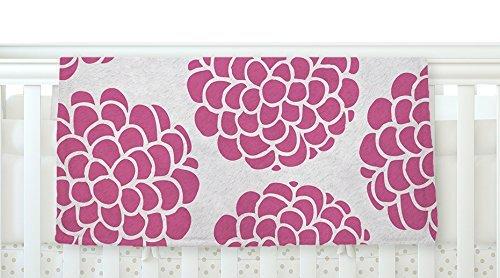KESS InHouse Pom Graphic Design Raspberry Blossoms Magenta Pink Fleece Baby Blanket 40 x 30 [並行輸入品]   B077ZVTFP6