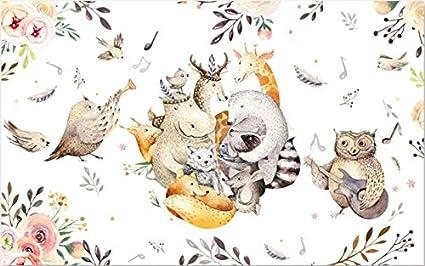 Mbwlkj Wallpapers Cartoon Animal Music House Wallpaper 3D Wall Murals For Living Room Best Bedroom