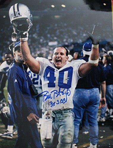 Autographed Bill Bates Dallas Cowboys 11x14 photo - w/COA