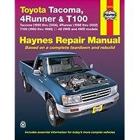 Toyota Tacoma (1995 thru 2004), 4Runner (1996 thru 2002) & T100 (1993 thru 1998): All 2WD and 4WD models