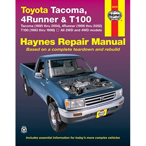 Toyota Tacoma 4runner T100 Automotive Repair Manual Robert Rh Amazon Com 1997  Toyota Tacoma SR5 Brake