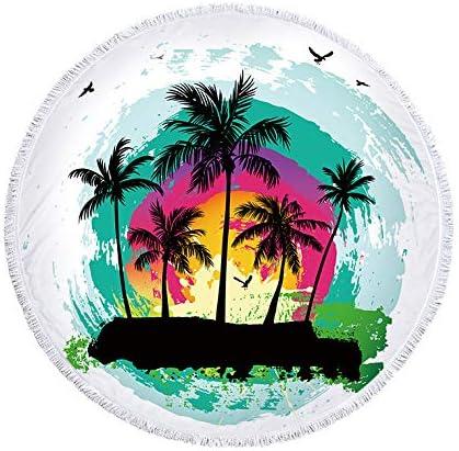 LINANNAN Toalla de Playa Redonda Impresa Digital se Puede Utilizar ...