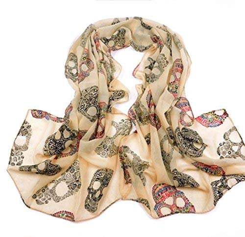 KUSTOM FACTORY Picture Gifts pa/ñuelo mujer Skull Beige