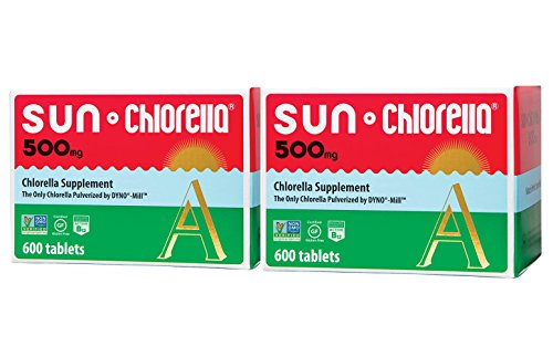 SUN CHLORELLA - Chlorella Supplement (500 Mg - 600 Tablets, 2 Pack) by Sun Chlorella (Image #4)