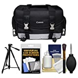 Canon 100DG Digital SLR Camera Case - Gadget Bag with Tripod + Cleaning Kit for Rebel T6s, T6i, T7i, EOS 77D