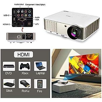 Amazon.com: WiFi Projector, EUG 4400 Lumen LCD HD Smart TV ...