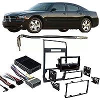 Fits Dodge Charger 05-07 w/NAV DDIN Harness Radio Dash Kit - Carbon Fiber