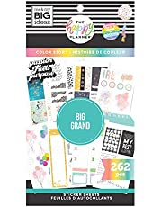 The Happy Planner Big Value Pack Sticker Sheets - Scrapbooking Supplies - Color Story Theme - Multicolor - Great for Journals, Scrapbooks & Albums - 262 Stickers