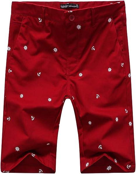 Pau1Hami1ton Chino Pantalón Corto Bermuda Pantalones para Hombre PH-26