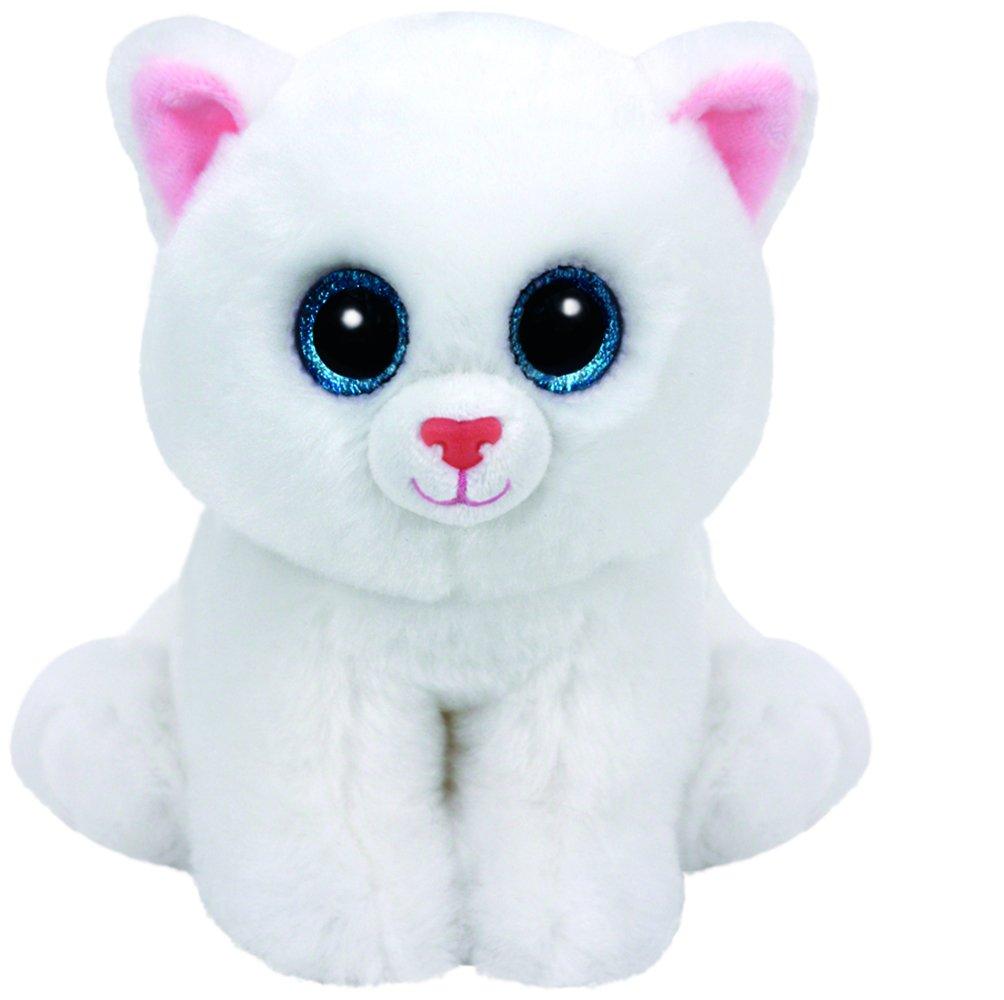 Ty Beanie Babies Peluche - Pearl el Gato 15 cm: Amazon.es: Juguetes y juegos