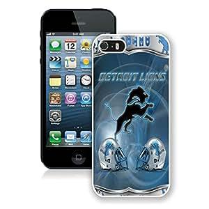 DIY Custom Phone Case For iPhone 5S Detroit Lions 34 White Phone Case For iPhone 5 5s Cover Case