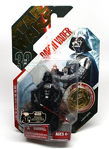 Star Wars ULTIMATE GALACTIC HUNT GOLD CHASE PIECE * Darth Vader #16 A New Hope 30th Anniversary Series 2007 Action Figure & Exclusive Gold Collector (30th Anniversary Obi Wan)