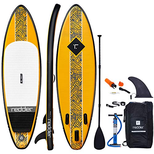 redder Inflatable Stand-up Paddle Board Rogue SUP for Surfing 9' with 3 Fins, Adjustable Paddle, Security Leash, Pump and Backpack