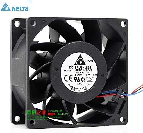 for delta FFB0812VHE 8CM 808038MM 8038 12V 0.57A server cooling fan