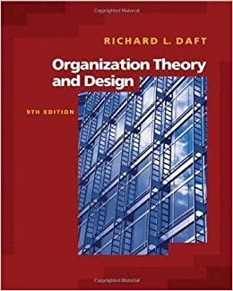 Organization Theory And Design Instructor S 9th Edition Instructor S 9th Edition Richard L Daft 9780324422726 Amazon Com Books