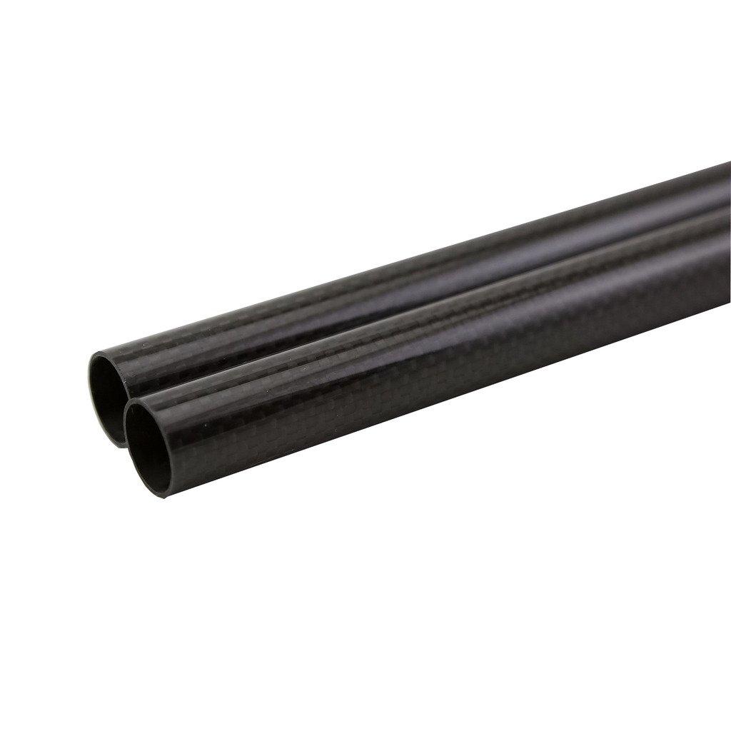 SHINA 3K Roll Wrapped 36mm Carbon Fiber Tube 34mm x 36mm x 500mm Glossy for RC Quad 2X3KTXWG-PL-36-34