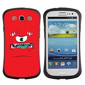 """Hypernova Slim Fit Dual Barniz Protector Caso Case Funda Para SAMSUNG Galaxy S3 III / i9300 / i747 [La ira Monstruo enojado Niños Niños""""]"""