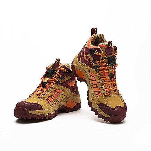 CHT Exterior Primavera Y Otoño Zapatos De Verano Modelos Femeninos De Senderismo Respirable De Ventilación De Tamaño Rojo Amarillo Opcional Yellow