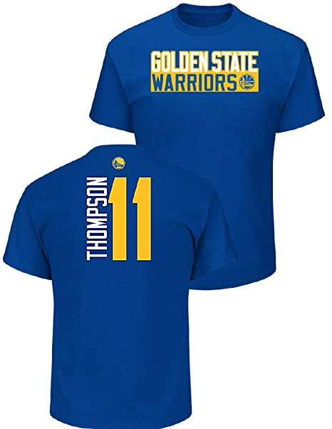 d8574c095476 VF Klay Thompson Golden State Warriors Mens Royal Vertical Short Sleeve T  Shirt (Large)