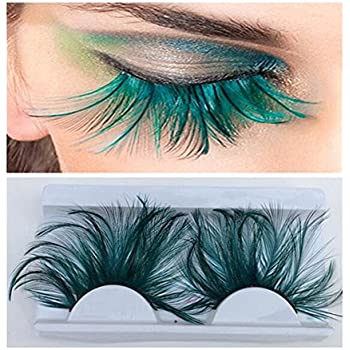 af7a0b90531 1 Pair Feather Eyelashes False Eyelashes Long Feather Flake Eyelash  Reusable Best Fake Lashes for Party Stage Show Masquerade Cosplay Fancy  Party Halloween ...