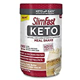 SlimFast Keto Meal Replacement Shake Powder, Vanilla Cake Batter (Pack of 16)