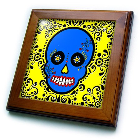 3dRose ft_28875_1 Day of The Dead Skull Dia De Los Muertos S