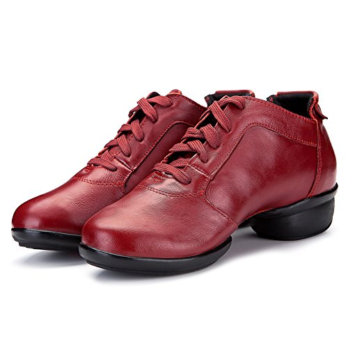 Scarpe Da Ginnastica Uomo E Donna Roymall Boost Dance Sneaker / Moderno Scarpe Da Ballo Jazz Da Ballo Scarpe Da Ginnastica, Modello B65 Red-2