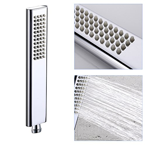 EMBATHER Brass Rainfall Shower Systems Wall Mouthed with rain shower head 10 inch - Adjustable Shower Holder for luxury bathroom Shower Set, Polished Chrome by EMBATHER (Image #4)