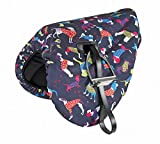 Product review for Shires Waterproof Ride On Saddle Cover Dog Print One Size