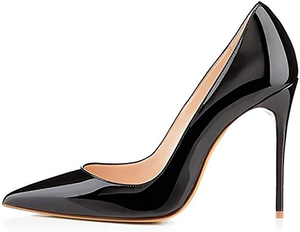a215ba4c426 High Heels, Women Pumps Shoes 3.94 inch/10cm Pointed Toe Stiletto Sexy Prom  Club Heels