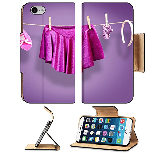 Ballet Costume Images (Luxlady Premium Apple iPhone 6 iPhone 6S Flip Pu Leather Wallet Case IMAGE ID: 23524595 Ballet clothes accessories on a clothesline)