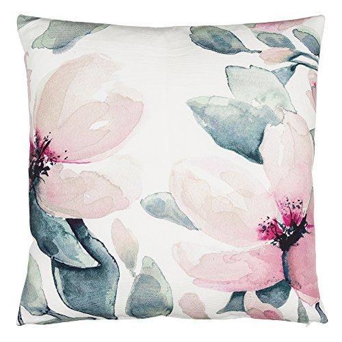 Eightmood Floral Throw Pillow, Petalia Print, 100% Cotton, D