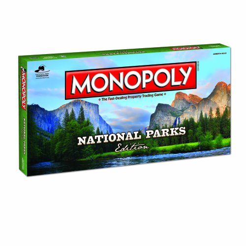 Monopoly National Parks Edition Board Game | Themed National Park Game | Buy, sell and trade iconic Parks like Yellowstone and the Grand Canyon |Themed Game
