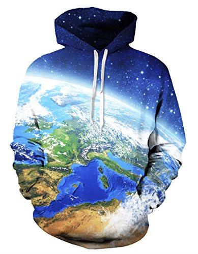 Cool Kids Sweatshirt - Uideazone 3D Earth's Surface Crewneck Sweatshirt Hoodie Cool Coat For Teen Boys