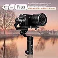 Feiyu G6 Plus 3-Axis Handheld Gimbal Splash Proof for GoPro Hero 6/5/4/3/Session, Sony RX100 / Sony a6300 / Sony a6500 / Canon M10 / Canon G3X Digital Cameras and Sony RX0 Action Cameras