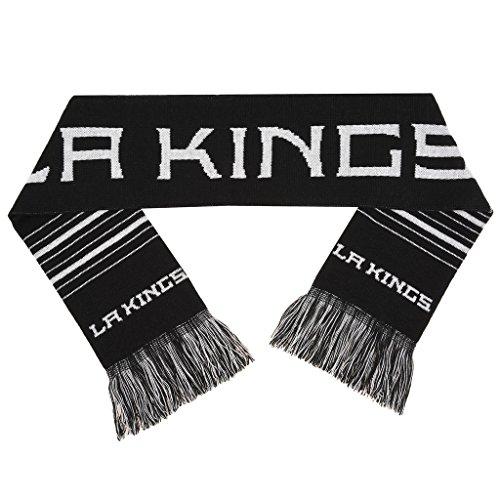 fan products of NHL 2 Sided Knit Large Wordmark Logo Fan Scarf, Los Angeles Kings