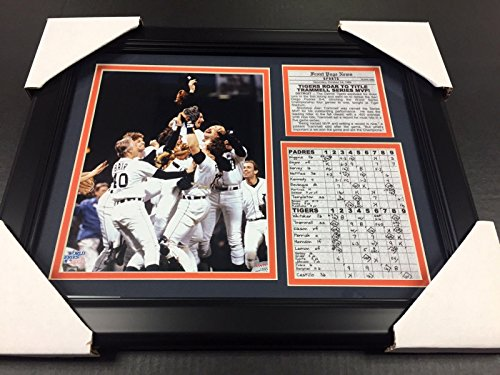 (11X14 FRAMED 1984 DETROIT TIGERS WORLD SERIES CHAMPIONS 8X10 PHOTO)