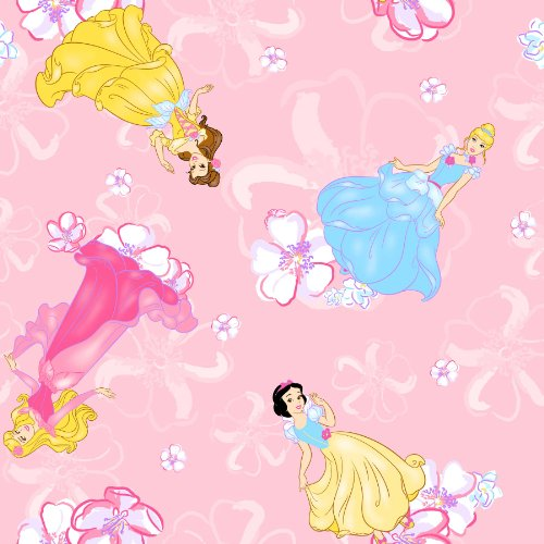 Springs Creative Products Crafty Cuts 1.5 Yards Fleece Fabric, Princess Blossom Toss