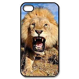 meilinF000Lion Personalized Custom Phone Case For iPhone 4 4S Hard Case Cover SkinmeilinF000