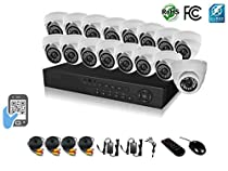 HDView 18CH Tribrid: 16 Channel DVR + 2 Channel NVR, 2.4MP 1080P HD Megapixel Security Camera Surge-Protection HD-AHD DVR Kit, 16 x 2.4MP 1080P infrared cameras Package System