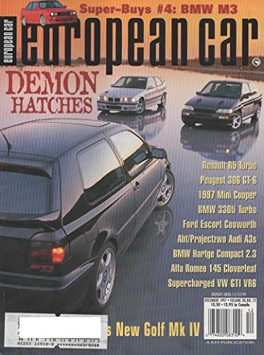 European Car Magazine, December 1997 (Vol 28, No 12) for sale  Delivered anywhere in USA