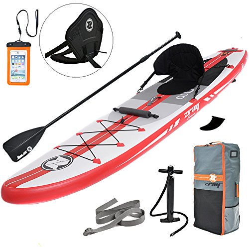 Zray Inflatable Paddle Board with Seat, 9'10' SUP Package, Pump/Paddle/Backpack Included, 6' Thick