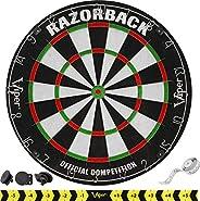 Viper Razorback Official Competition Bristle Steel Tip Dartboard Set with Staple-Free Razor Thin Metal Spider