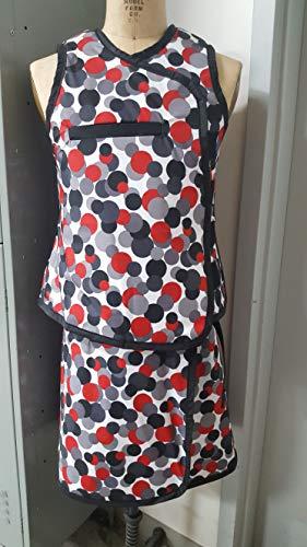 Vest Guard & Skirt Guard Combo, Regular Lead, X-Ray Apron, 0.5mm Pb Lead Equivalency, Medium, Lots O Dots by Techno-Aide Inc (Image #3)