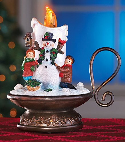 Lighted Musical Snowman Candle