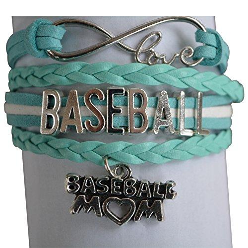 Baseball Mom Bracelet- Baseball Jewelry For Moms - Perfect Gift for Baseball (Baseball Charm Bracelet)