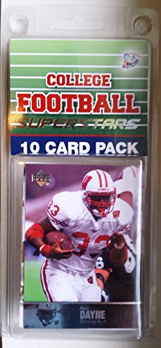10 card pack college football wisconsin badgers different superstars starter kit