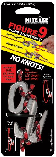 Nite Ize F9L-03-09 Large Figure 9 with Rope, Single-Pack